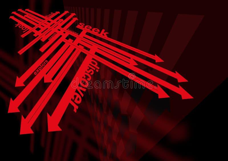 стрелки ища изыскивать иллюстрация вектора