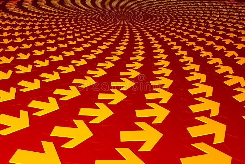 стрелки концентрические иллюстрация вектора
