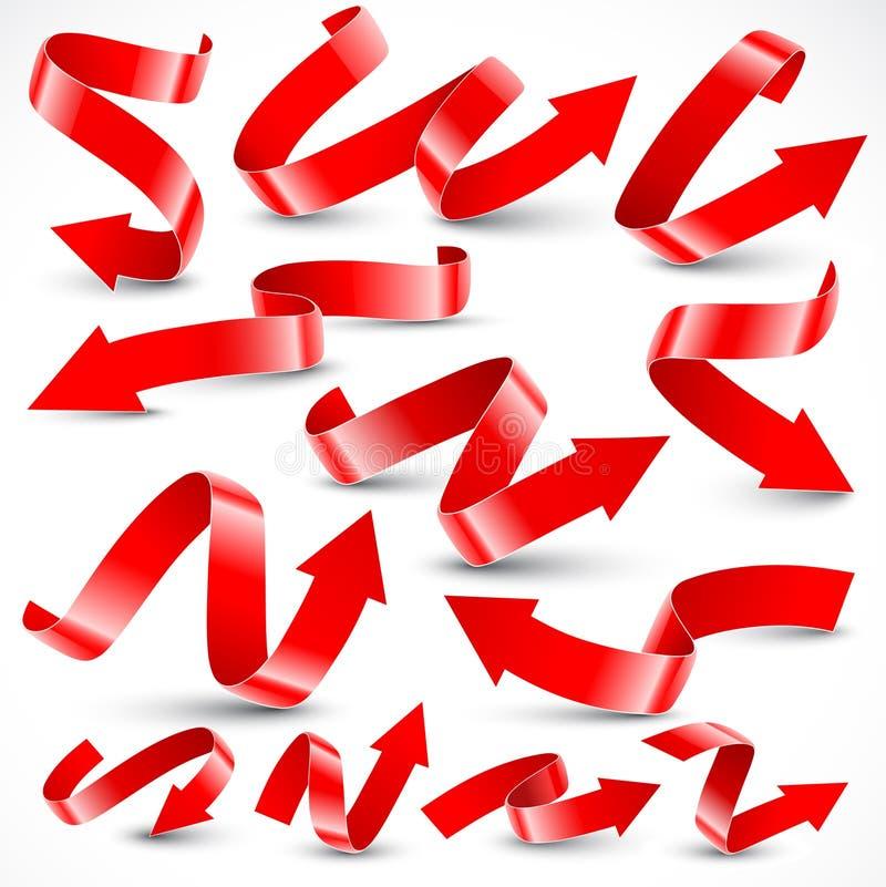 стрелки красные иллюстрация штока