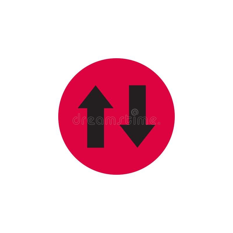 2 стрелки на округленном значке Иллюстрация вектора в стиле плоско Конструированный для сети и программных интерфейсов иллюстрация штока