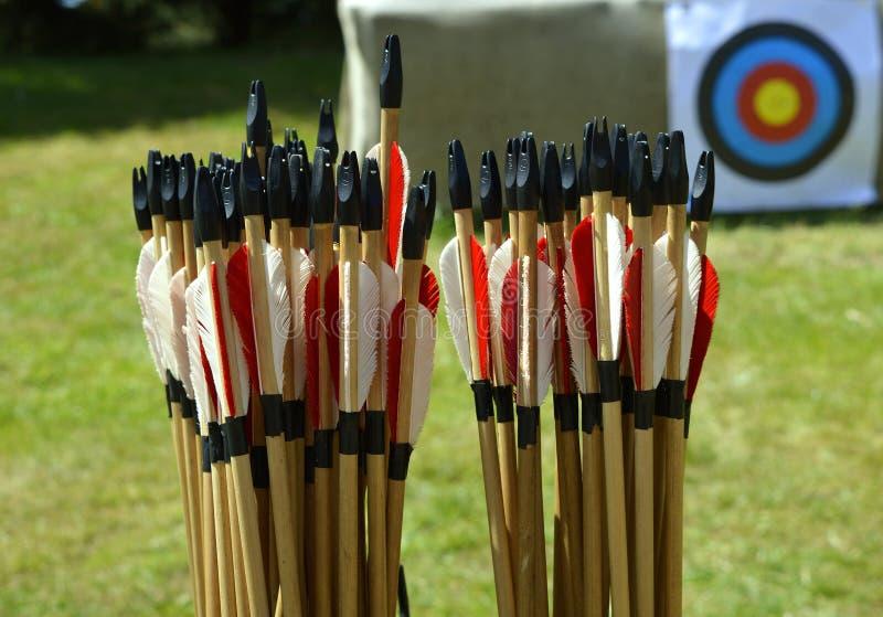 Стрелки оборудования Archery стоковое изображение