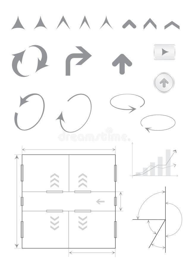 стрелки основные иллюстрация штока