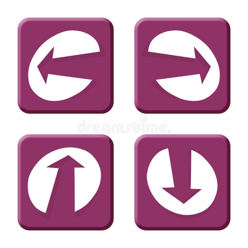 стрелки пурпуровые стоковые изображения rf
