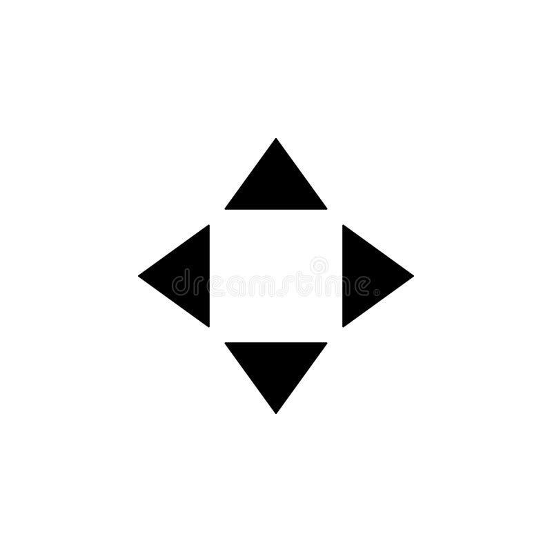 стрелки различного значка направлений Элемент minimalistic значка для передвижных apps концепции и сети Знаки и собрание ic симво иллюстрация вектора