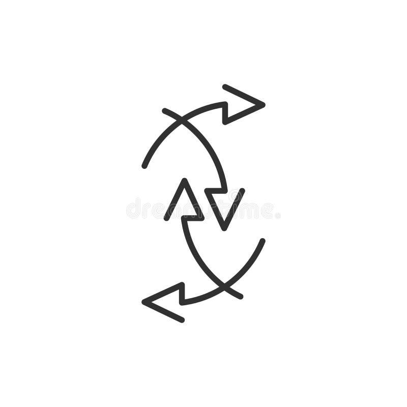 Стрелки указывая в различные dirrections установленные элементы или абстрактная предпосылка Иллюстрация вектора изолированная на  бесплатная иллюстрация
