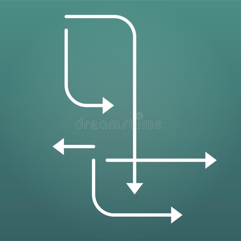 Стрелки указывая в различные dirrections Infographics установило элементы или абстрактную предпосылку Иллюстрация вектора изолиро бесплатная иллюстрация