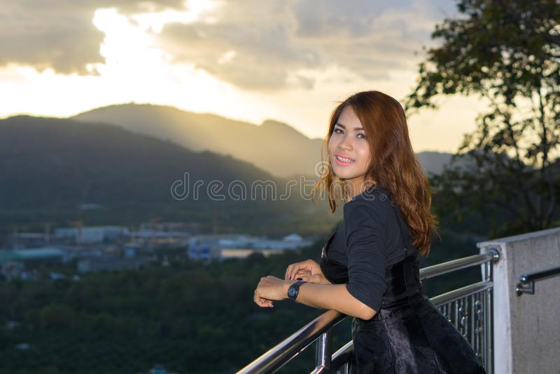 Стрельба портрета на звенела холм, Пхукет, Таиланд стоковое изображение rf