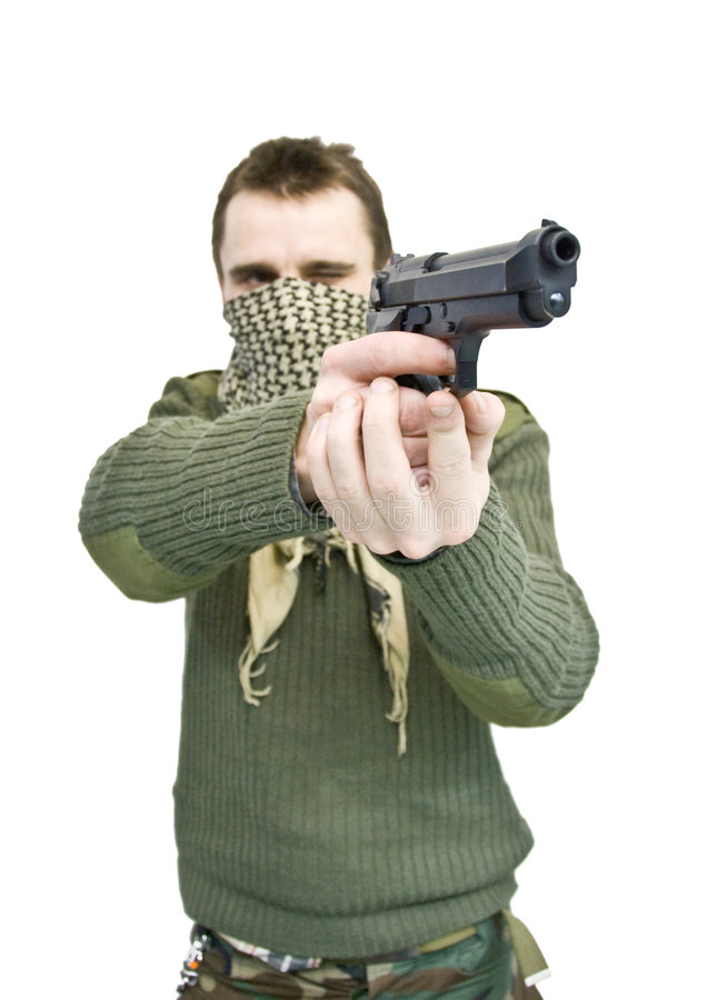 стрельба человека стоковое фото rf