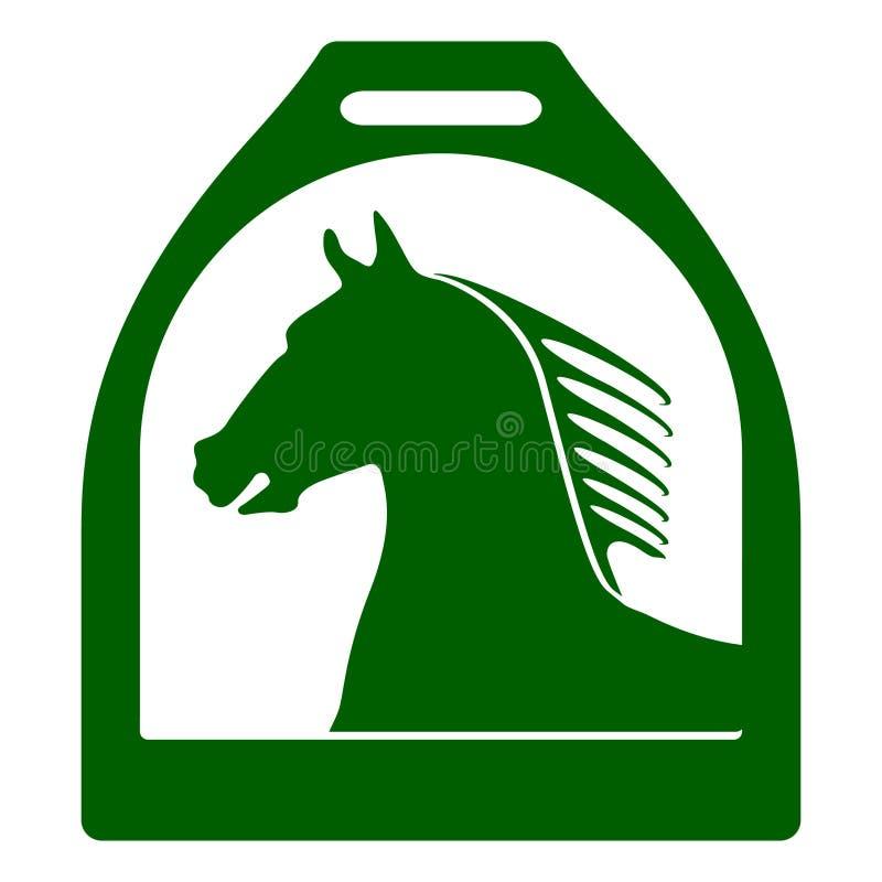 стременое знака лошади иллюстрация вектора