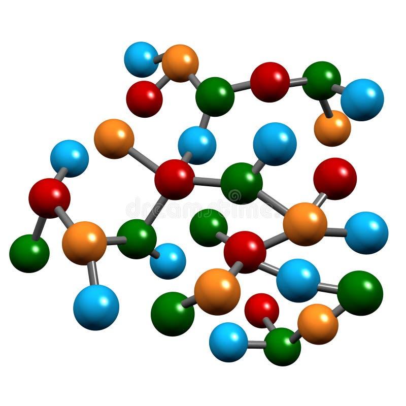 стренги молекулы биологии иллюстрация вектора