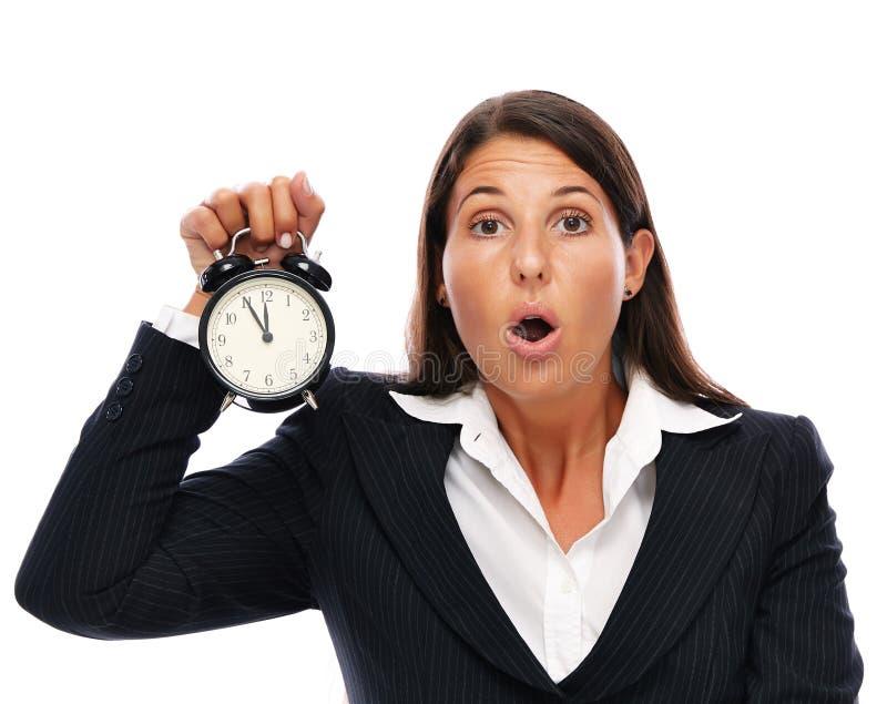 Стресс - бизнес-леди последняя стоковая фотография rf