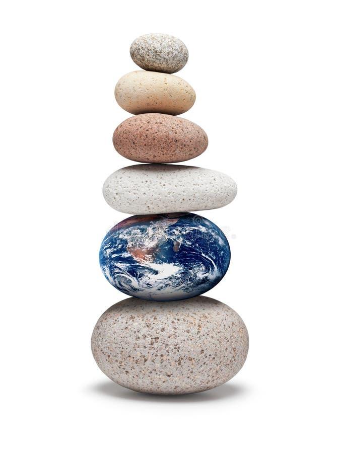 Стресс изменения климата баланса мира стоковое фото