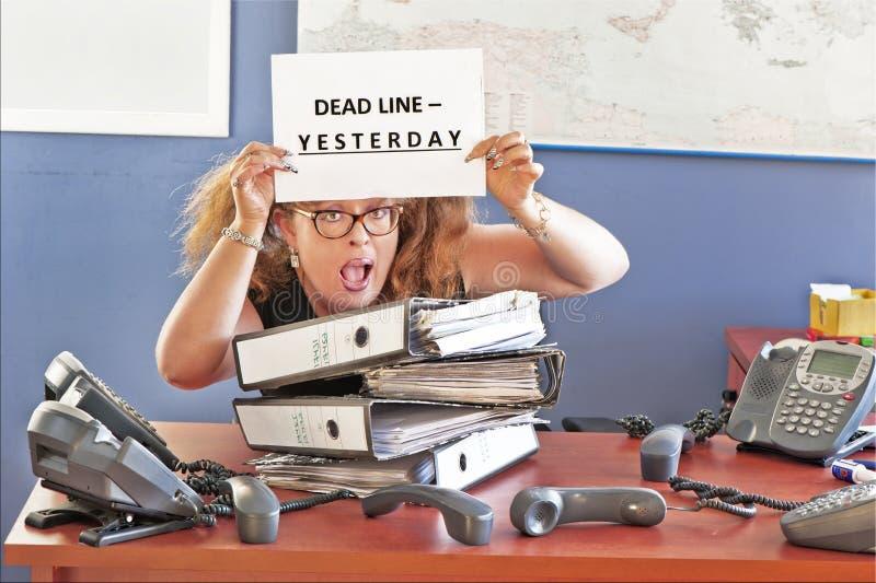 Стресс офиса стоковое изображение