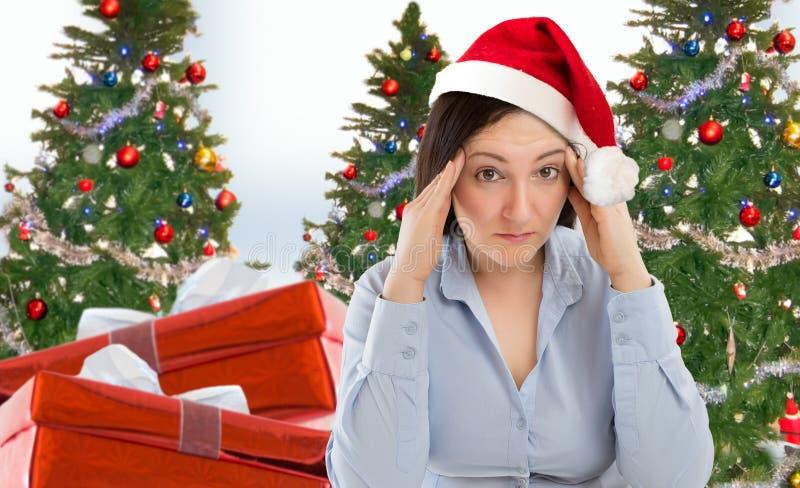 Стресс праздника рождества стоковое изображение