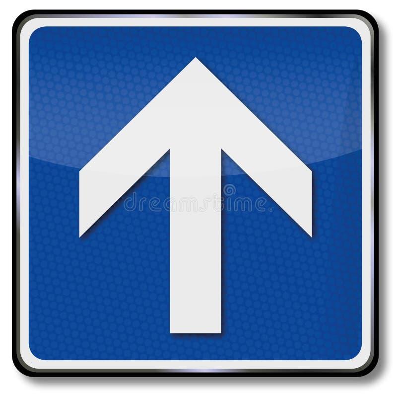 Стрелка и индикация направления к фронту иллюстрация вектора