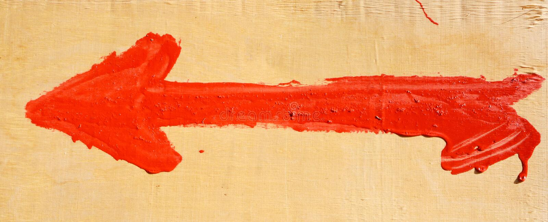 Стрелка на загородке стоковые фотографии rf