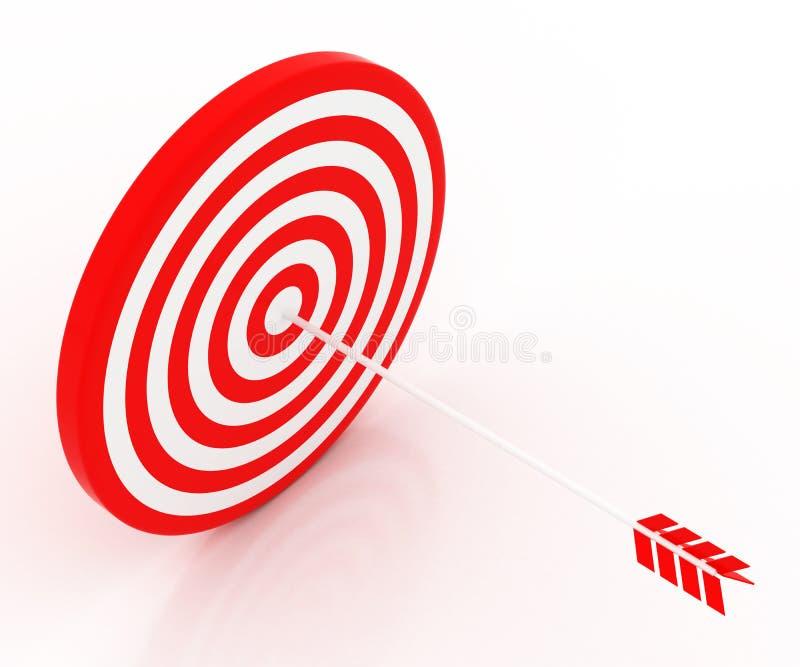 Стрелка ударила цель иллюстрация вектора