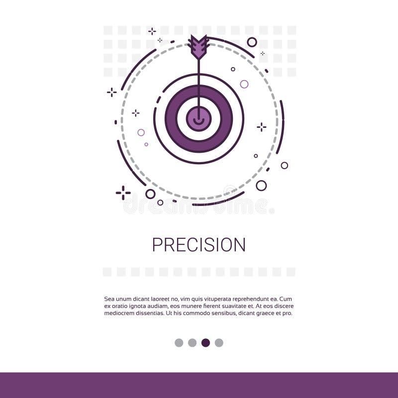 Стрелка цели точности получает знамя сети дела цели с космосом экземпляра иллюстрация штока