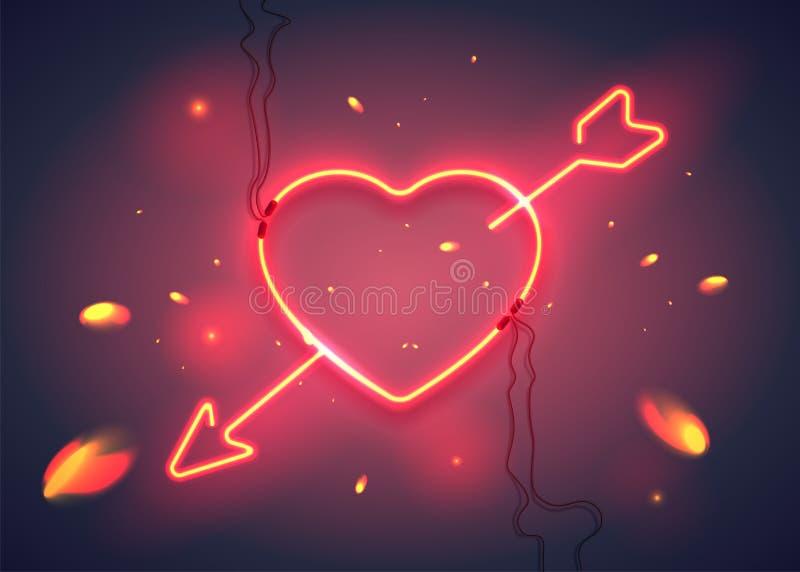 Стрелка fire-01 сердца иллюстрация вектора