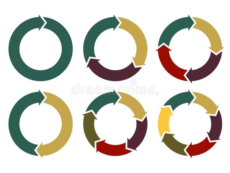 Стрелки круга вектора для infographic бесплатная иллюстрация