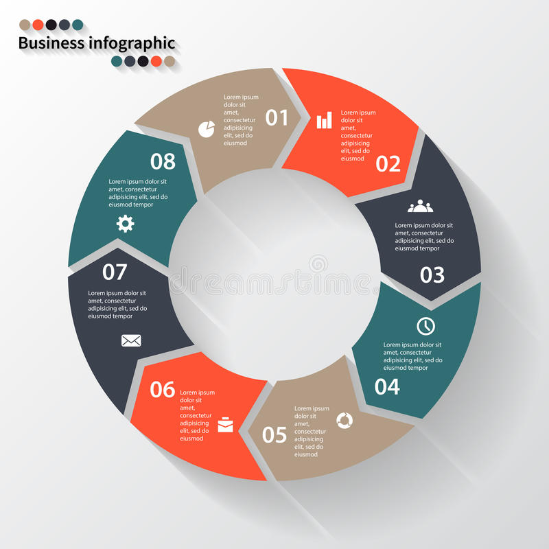 Download Стрелки круга для вашего графика информации Иллюстрация вектора - иллюстрации насчитывающей данные, финансы: 41657260