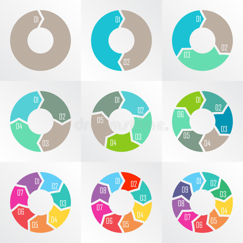 Стрелки круга для infographic стоковое фото rf