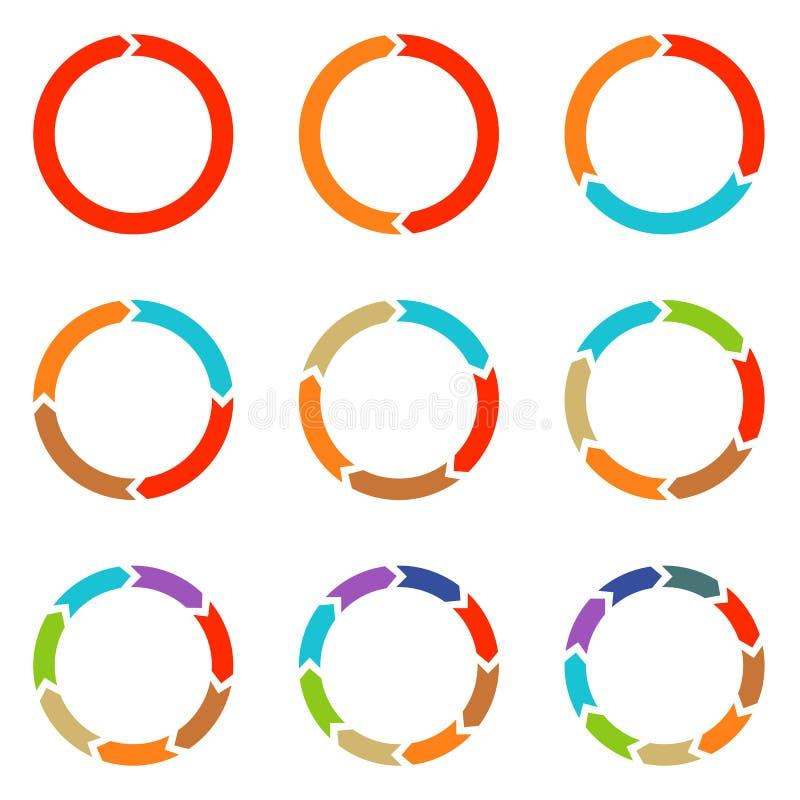 Стрелки круга для infographic стоковая фотография rf
