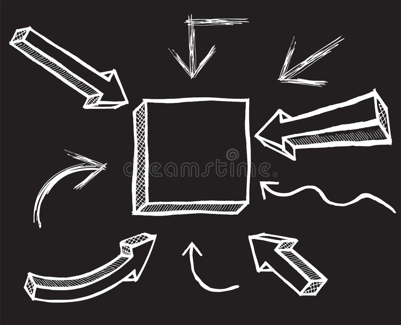 Стрелки мела вектора вычерченный вектор руки бесплатная иллюстрация