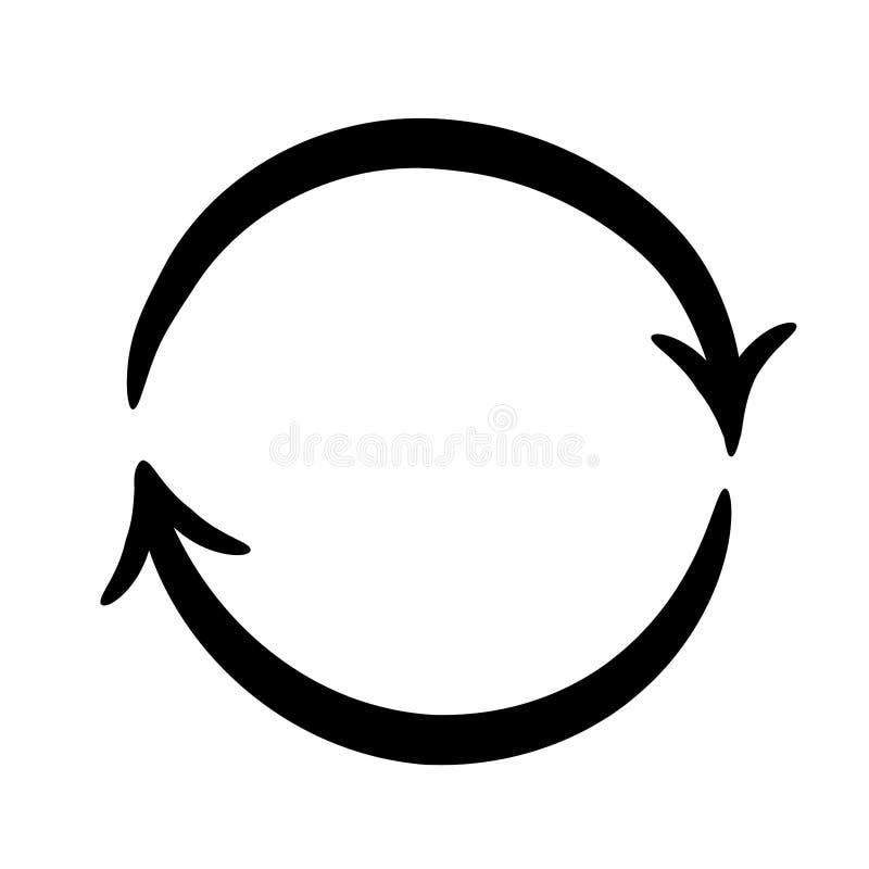 Стрелки на круге на белизне иллюстраций вектора бесплатная иллюстрация