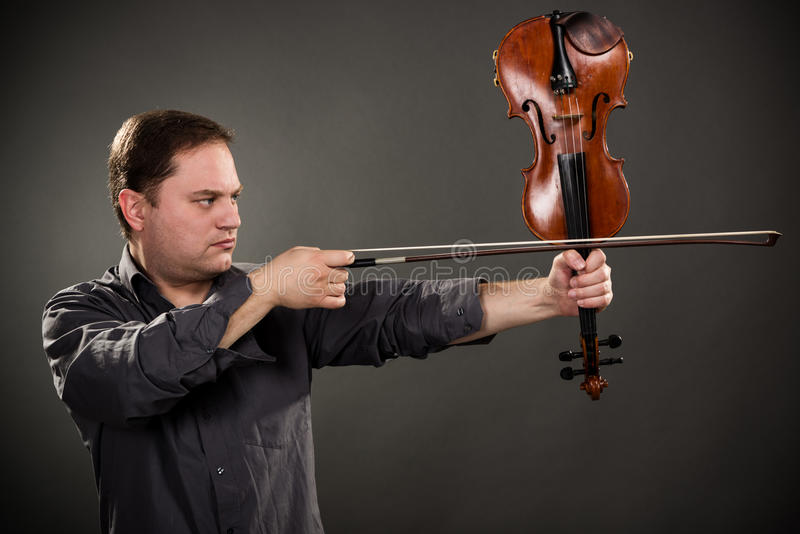Стрелок скрипки стоковые изображения rf