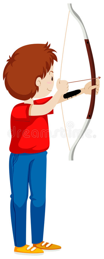 Стрельба человека с луком и стрелы бесплатная иллюстрация