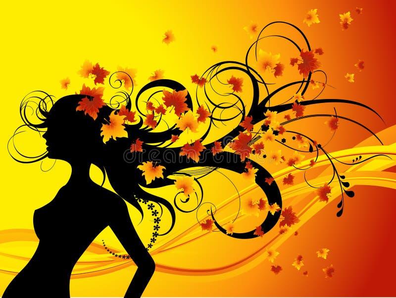 стрижка autumna иллюстрация штока