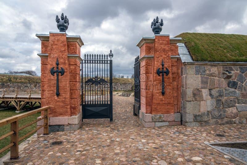 Стробы в крепости Daugavpils, Латвии стоковое фото