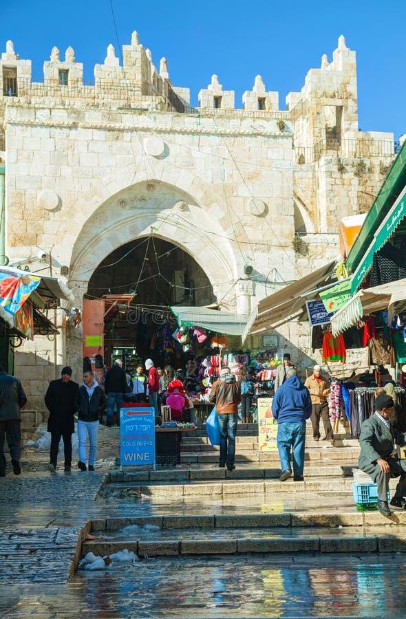 Стробы Дамаска в Иерусалиме стоковые фотографии rf
