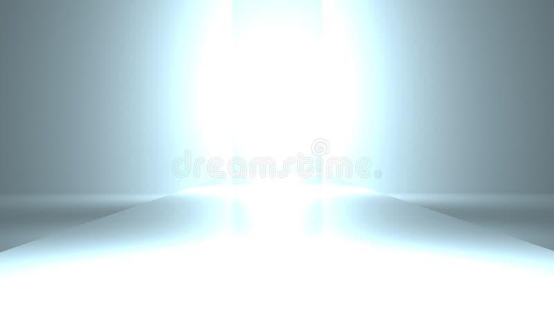 Стробы рая которые излучают белый свет бесплатная иллюстрация