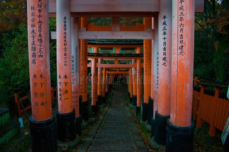 Стробы Fushimi Inari Taisha Torii стоковые фото