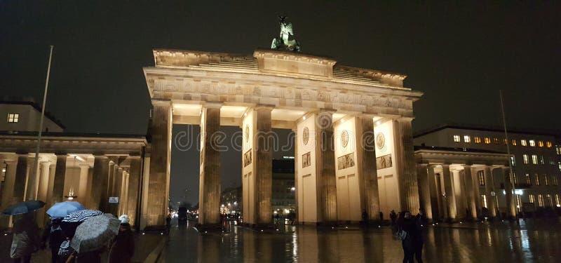 Строб Бранденбурга Берлин декабрь 2016 стоковая фотография