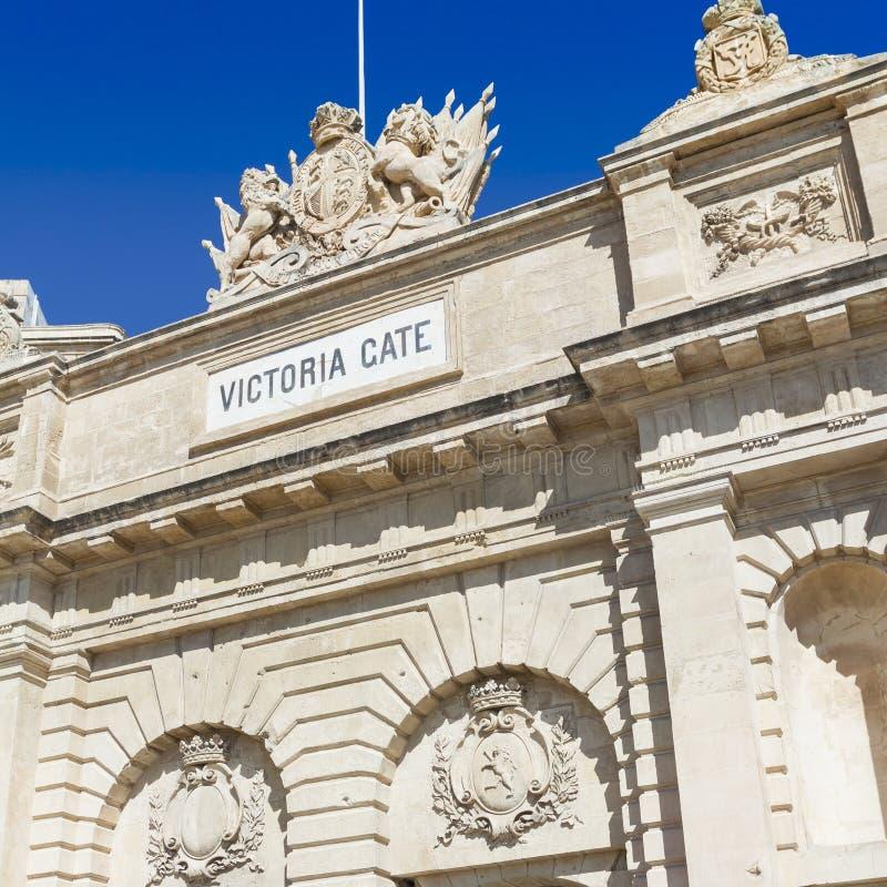 Строб Виктории, один из входов к Валлетте, столица  стоковые фото
