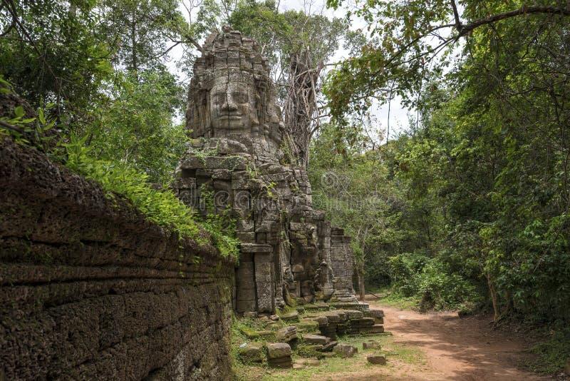 Строб виска Prohm животиков, Angkor Wat, Камбоджи стоковая фотография