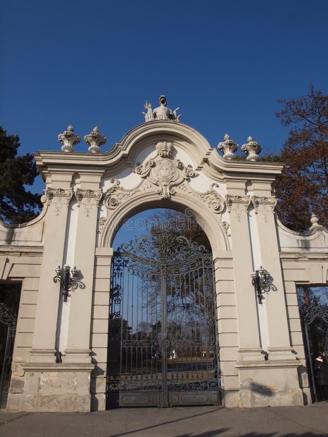 Строб дворца Festetics, Keszthely стоковые изображения rf