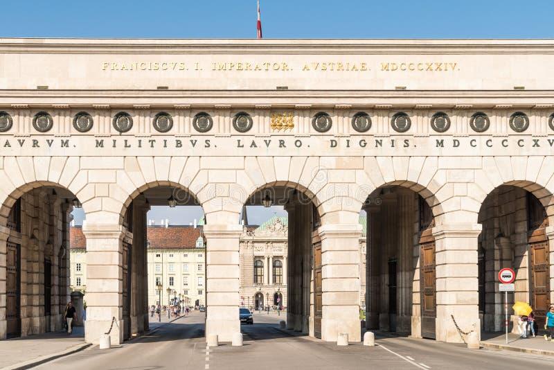 Строб дворца Hofburg в вене стоковая фотография
