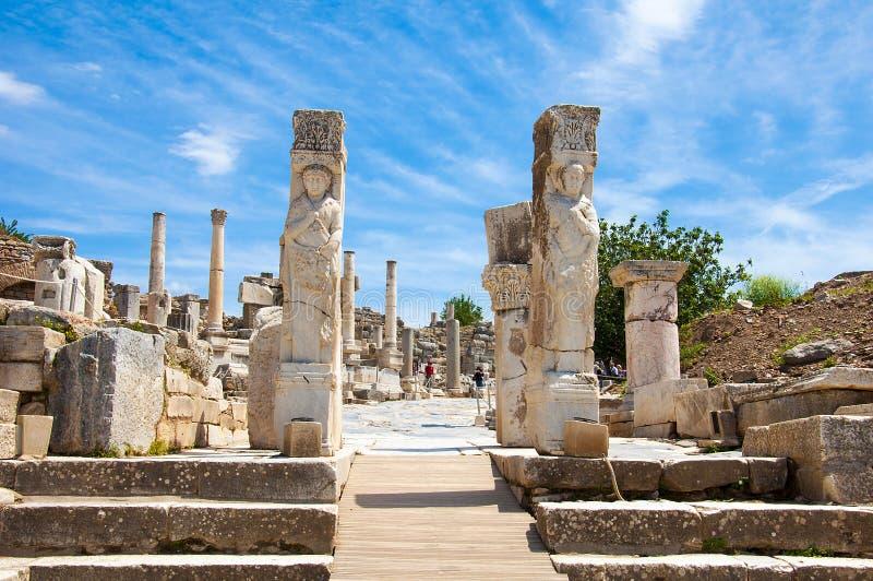 Строб Геркулеса в Ephesus стоковая фотография rf