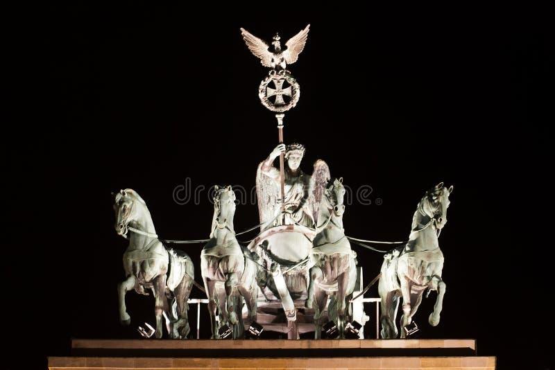 строб Германия chariot berlin brandenburg стоковое фото