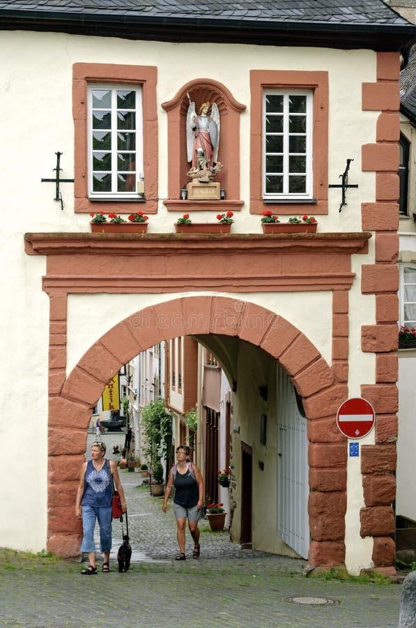 Строб города Graacher или Graach в Bernkastel-Kues стоковое фото rf