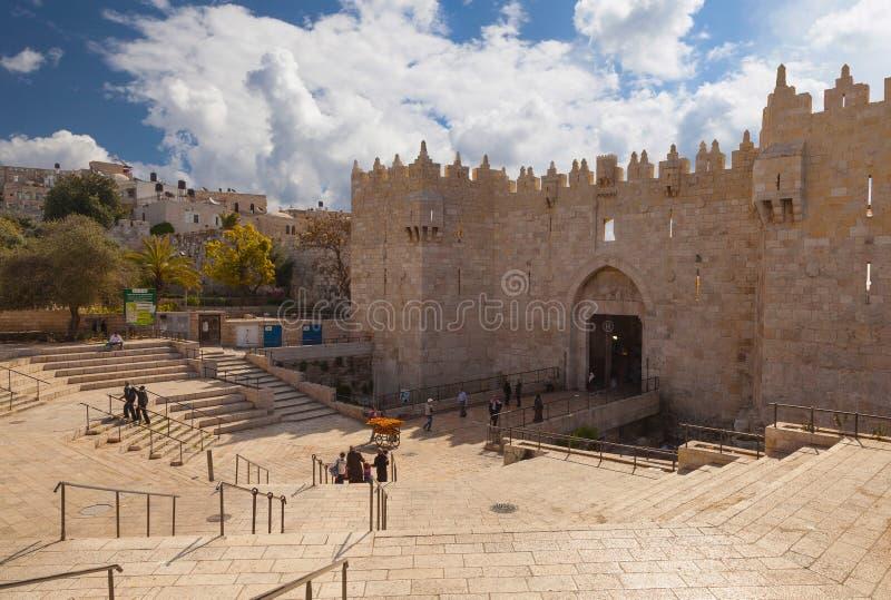 Строб Дамаска, Иерусалим стоковая фотография