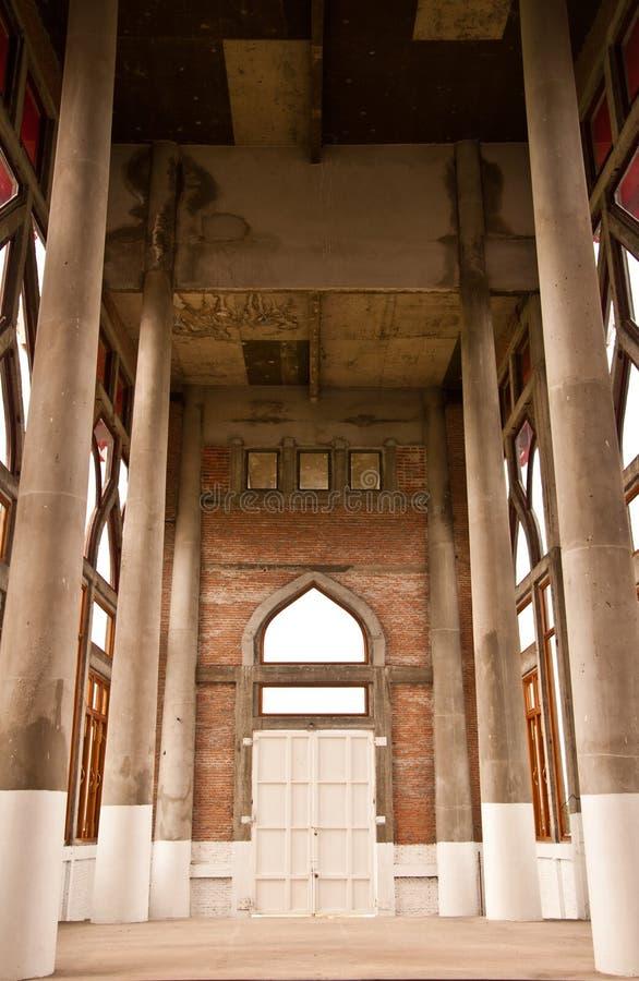 строб здания арочного кирпича стоковое фото rf
