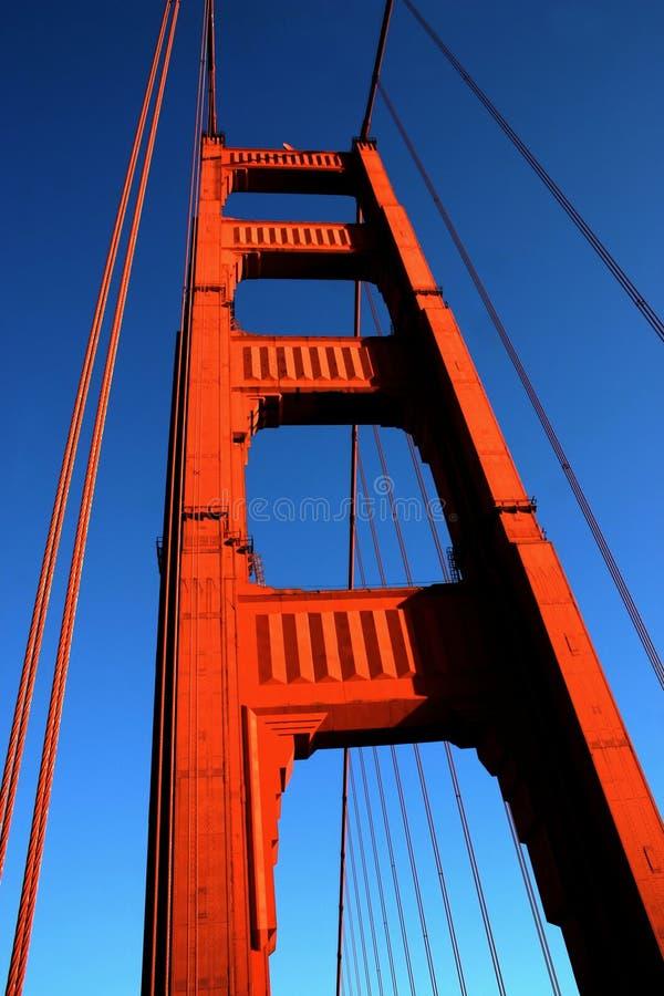 строб золотистый san ca francisco моста стоковая фотография rf