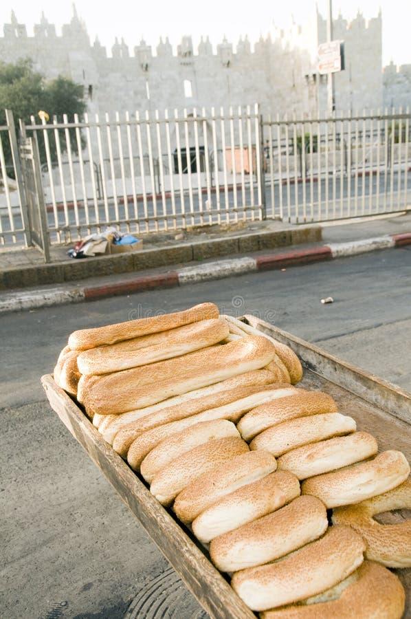 строб Иерусалим damascus хлеба bageleh стоковое фото rf