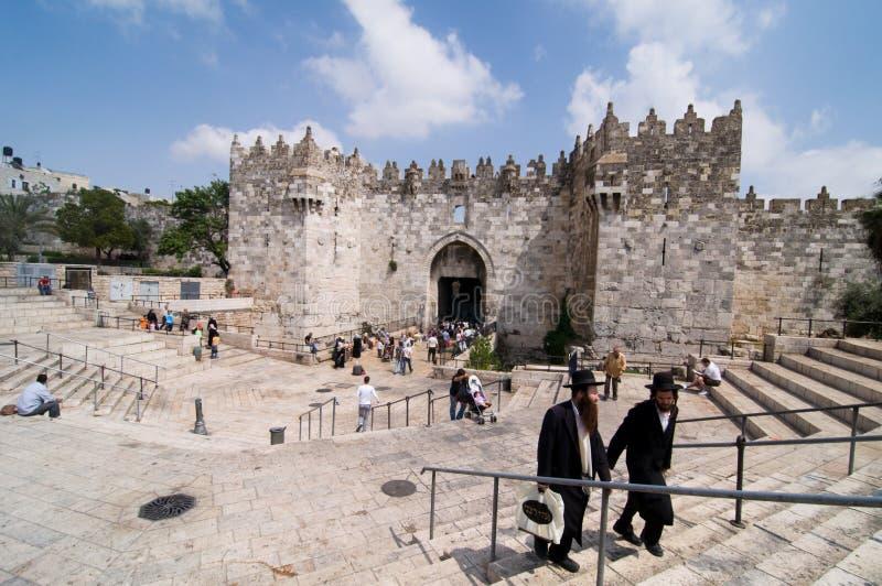 строб Иерусалим damascus стоковая фотография rf