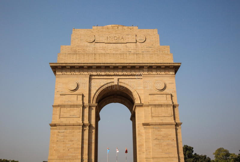 Строб Индии в фронте стоковое фото rf